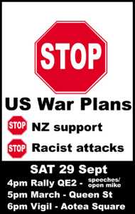 Auckland Peace Protest This Saturday