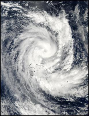 Il ciclone Ami colpisce le Fiji