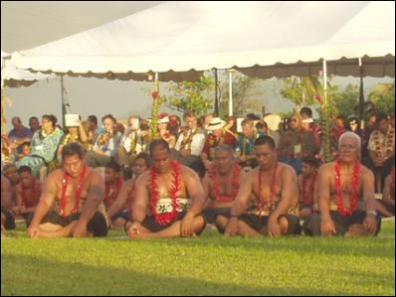 Scoop Image: Samoan elders at the Pacific Islands Forum 2004, Apia, Samoa.