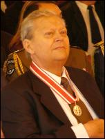 David Lange, photographed after receiving his Member of the Order of New Zealand honour.