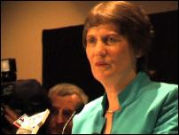Scoop Image: Helen Clark at post-election press conference.