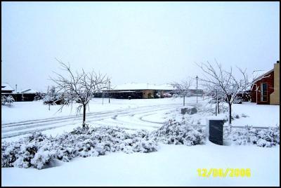 Snow in Rolleston. Image: Lawrence Allen