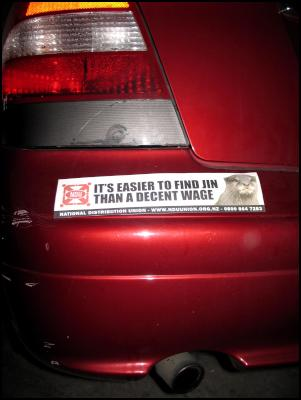 Otter Bumper Sticker: It's easier to find Jin than a decent wage.