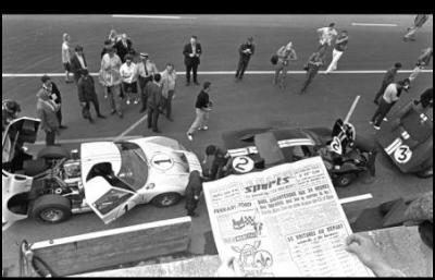 NZ in 1966 Le Mans 24 hour race: Pit Lane