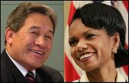 Winston Peters, Condoleeza Rice