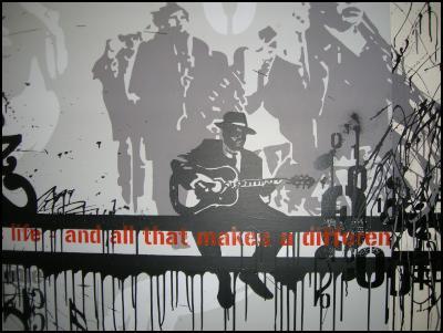 New mural at SoundHouse, Otara Music Art Centre