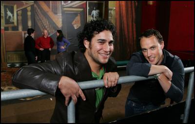 Opera talents Phillip Rhodes, left, and Andrew Conley.  Photo: Dean Treml