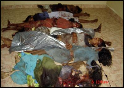 Victims of SLA artillery shell attacks in LTTE territory in Trincomalee