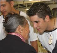 The Maori Queen hongis OSCS (Ordinary Seaman Combat Specialist) Daniel Hemara