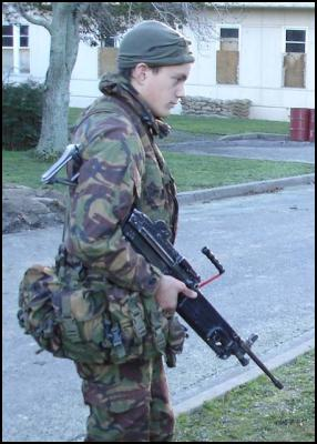 Private Meredith Simms on exercise in Marlborough August 2006