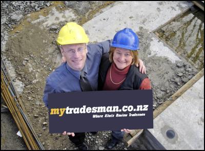MyTradesman.co.nz's Matt Burgess and Jan Parkin