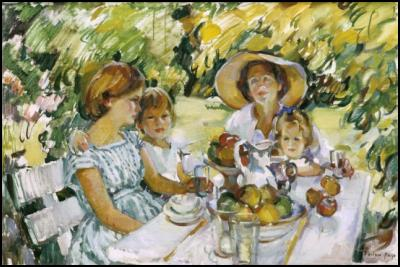 Luncheon Under the Ash Tree, Evelyn Page