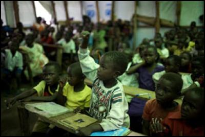 School for Internally Displaced People (IDP) set up by UNICEF with 604 pupils