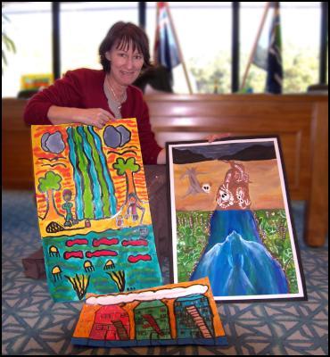 Whakatane artist Andrea Cooper, judge