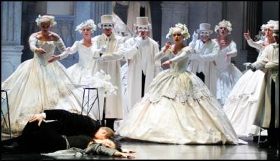 The Chapman Tripp Opera Chorus in The NBR New Zealand Opera's two recent productions of La Traviata (2005)