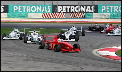 Earl Bamber Leading the Field in His Team Meritus Formula BMW at Sepang in Malaysia on His Way to Victory in the 2006 Formula BMW Asia Series