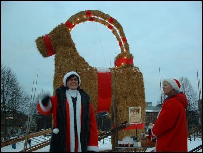 Gavlebocken, the Christmasgoat. Photo Rose-Marie Forsberg.