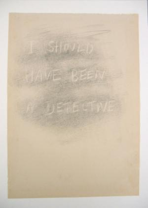National Drawing Award 2006 Winner; Artist: Christina Read; Title: I should have been a detective