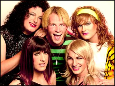 The Glamazons with Rob Arnold from Boyband