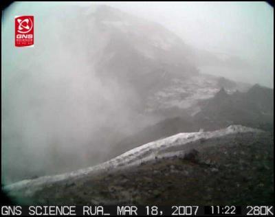 GNS Image: Ruapehu Crater Lake burst