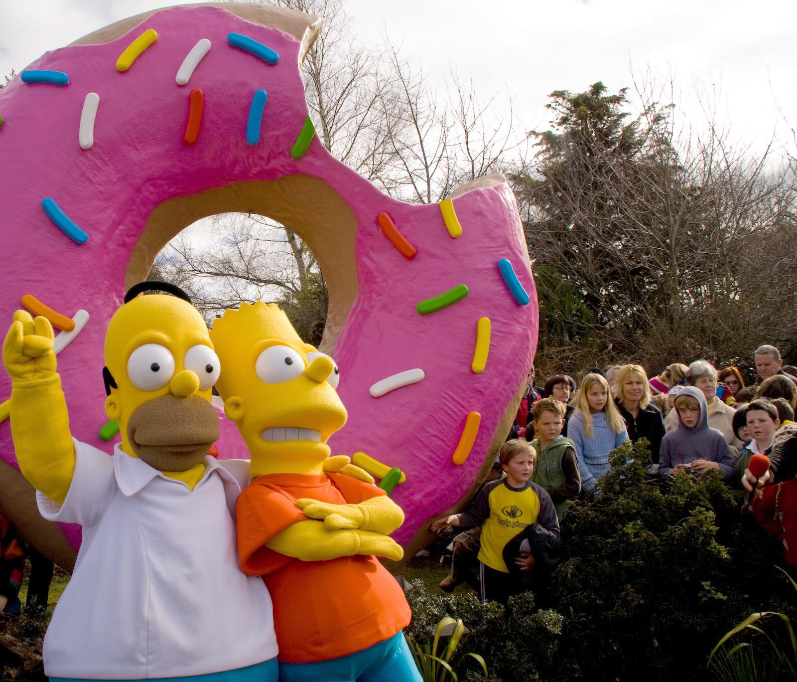 images from the simpsons movie celebration in springfield new zealand
