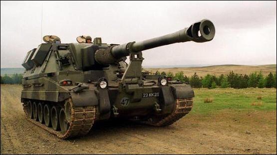 The AS90 artillery gun