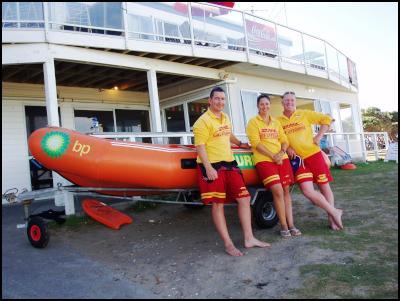 Orewa Surf Life Saving Club volunteer lifeguards involved in kayak rescue