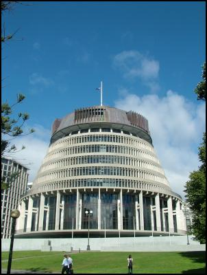 the beehive with flag at half mast