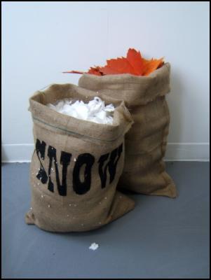 Erica van Zon, Snow and Leaves Sacks