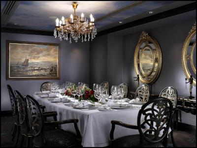 Partingtons private dining room: The location of the private dinner