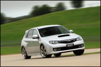 Impreza WRX STI dynamic track driving