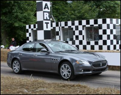 The Maserati Quattroporte S takes to the Goodwood Hill
