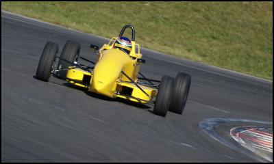 Richie Stanaway in action in his Mygale Formula Ford car