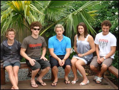 David, Willy, Paul, Clair and Chris Benson