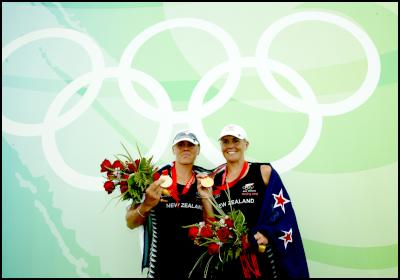 Double Olympic gold medallists and three time world rowing champions Caroline and Georgina Evers-Swindell