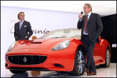 Ferrari President Luca di Montezemolo and CEO Amedeo Felisa