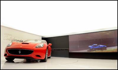 The presentation of the new Ferrari California at the Paris Auto Show