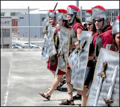 legionaries, wellington sevens costumes