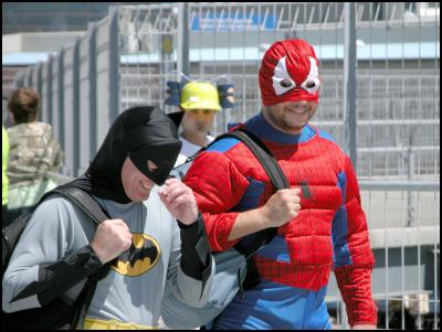 television batman, spiderman, wellington sevens costumes
