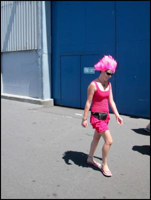 pink, wellington international rugby sevens costumes