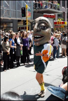 nzi wellington international rugby sevens, south africa mascot