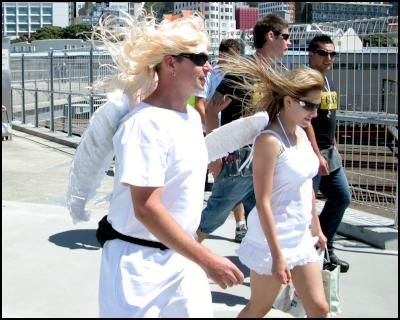 blonde angels, wellington sevens costumes