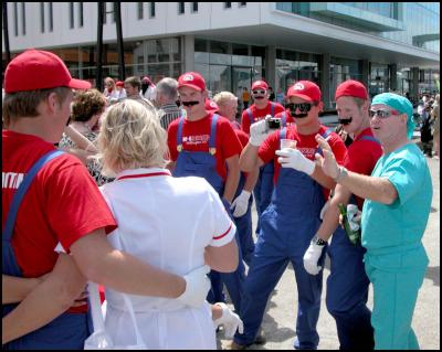 mario brothers, nurse, surgeon, wellington international rugby sevens costumes