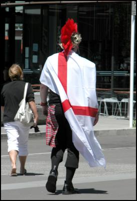 punk, english flag, wellington international rugby sevens costumes