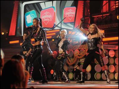 Pussycat Dolls perform at the 22nd Annual Kids' Choice Awards on Saturday, March 28, 2009, in Los Angeles. (Katy Winn/AP Images for Nickelodeon)