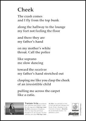 Poem Poster: Cheek - Tusiata Avia