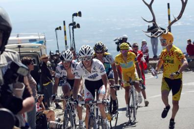 Watching the last competitive stage of the Tour de France on Mt Ventoux was  like watching Frodo and Sam biking all the way up the side of Mt Doom in  Mordor ... 469444df8
