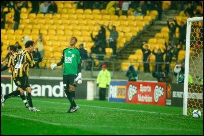 The Wellington Phoenix battle Perth Glory at Westpac Stadium on a rainy sunday afternoon. The Phoenix beat Perth Glory 2-1. All images ©2008 Karim Sahai/karimsahai.com