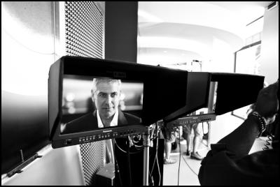 behind-the-scenes images from Nespresso shoot: George Clooney