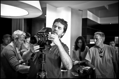 behind-the-scenes images from Nespresso George Clooney shoot: photographer Sam Jones